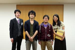 左から、明智カイト、荻上チキ、遠藤まめた、牧村朝子