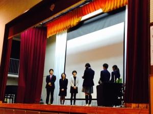 市ヶ尾中学校、人権講演会(弁護士チーム)